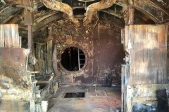 Inside the U-boat at Birkenhead.