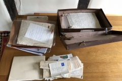 The Suitcase--filled with letters to and from and about Mary Cornish.