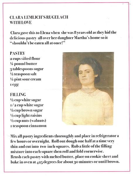 Clara Lemlich's Rugelach recipe