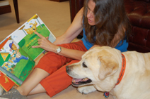 Deborah Heiligman reading Cool Dog, School Dog to Zachary Bear Noone