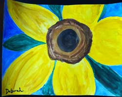 Sunflower water color by Deborah